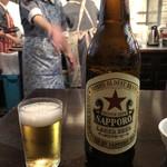 神田まつや - 「ビール大」750円は赤星(サッポロラガー)