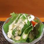 玄海鮨 - 最初にサラダ です