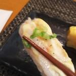 玄海鮨 - エビの炙り