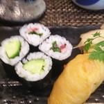 玄海鮨 - カッパ巻  ウメシソ巻  いなりです