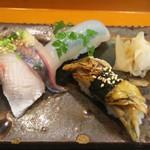 玄海鮨 - 追加  カンパチハラミ  アジ  イカ  アナゴ