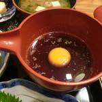 富屋 - 宇和島鯛めし定食のだし汁
