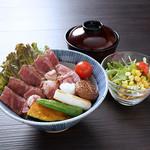 牛リブロース丼定食【月曜日は200円引!】