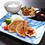 北海道産豚しょうが焼き定食【木曜日は200円引!】