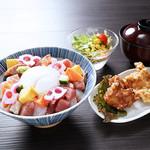海鮮ばらちらし丼定食【木曜日は200円引!】