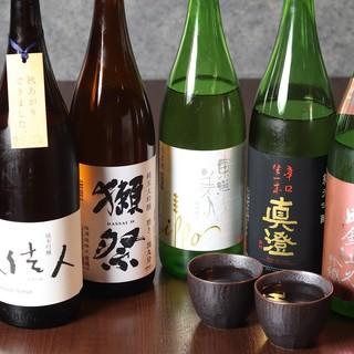 こだわりの厳選焼酎・日本酒!魔王、伊佐美、獺祭、真澄他