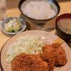 """きっちん 浜家 - 料理写真:""""ヒレカツとメンチカツ""""、一式(ひとそろひ)"""