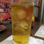 十勝ホルモン ケムリ - キンミヤ緑茶割り