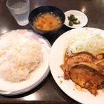 洗濯船 - 生姜焼きウマー!ごはんの味も美味くて盛りも中々良し!