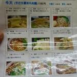 蘭州料理 ザムザムの泉 - 麺は9種類
