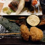 元祖北海魚串 がりや - 「第七駆逐隊」お勧め!秋刀魚と季節の野菜串&「鳳翔」さんの煮物と子持ち昆布串