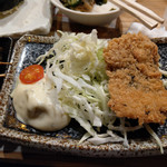 元祖北海魚串 がりや - 「重巡戦隊」キャベツ充実の秋刀魚フライ