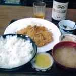 9476777 - アジフライ定食+ビール