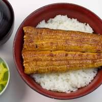 うなぎ本丸 - うな丼(肝吸い・お新香付き) 1500円