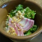 PEANUTS Cafe - 「ザ グースエッグス スライダー」のサラダ