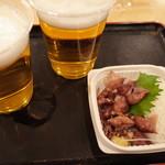 味の笛 - 2017.1 ビール、ホタルイカ