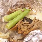 たばこや - イサキと秋野菜のホイル焼きです。