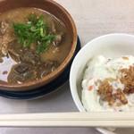 中島酒店 - どてやき¥350とポテトサラダ¥200