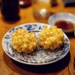 日本料理 岩戸 - とうもろこしのかき揚げ