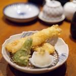 日本料理 岩戸 - 穴子天ぷら