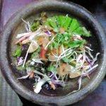 9479007 - 豆腐なべ定食 980円 のサラダ