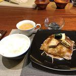 創作フレンチ鉄板Hanasaki - 豚ロース生姜焼セット