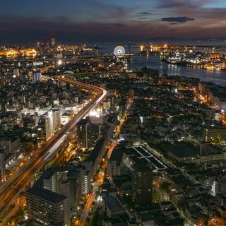 大阪のベイエリアが一望できる