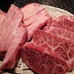 京やき肉よし田 - 料理写真:左:芯タン厚切り 右:はらみ厚切り