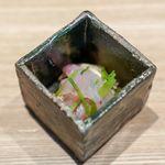 東山 吉寿 - 甘鯛、焼き松茸、三つ葉、 鰹のお出汁と梅干しの煎り酒