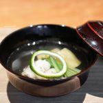 東山 吉寿 - 名残の鱧、お茄子、 柚子
