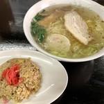 大正庵 - 料理写真:チャーハンセット ¥850(ラーメンと半炒飯)