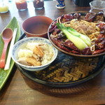 94807403 - 麺セット(四川担々麺+海南ライス+杏仁豆腐)