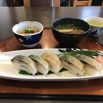 天繁 - 料理写真:鯖寿司のセットをいただきました(2018.10.18)