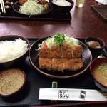 94807597 - 『ひれかつ定食』1,600円 かつ亭喜多八 (川和町)