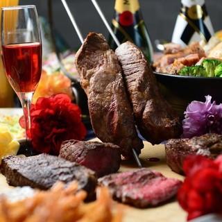 【シェフ自慢の創作料理】★話題の魚介のお鍋★熟成肉シュラスコ
