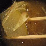 9481485 - 味噌汁はてっきり袋入りの国産のじゅんさいを下処理し使用しているのかと思ったら 冬瓜と茗荷でしょうか?