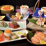 日本料理 花遊膳 - 北海道コース 6,300円 詳細はコースページを御覧ください