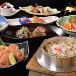 日本料理 花遊膳 - 特製釜飯と蟹の膳5,200円 詳細はコースページを御覧ください