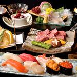 日本料理 花遊膳 - 豊彩の膳~道産牛網焼きと北の生寿司~ 5,200円 詳細はコースページを御覧ください