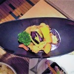 94819581 - 鱧と季節野菜の柚子黒酢あんかけ