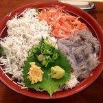 94821483 - 駿河三色丼(上からアップ)