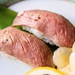 おちゃのこ菜々 - 料理写真:牛タンの握り寿司