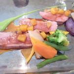 ル・マルカッサン ドール - 柿のソースで頂きます