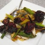 94825838 - サンマと秋野菜の四川唐辛子炒め