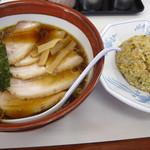 9483131 - チャーシュー麺+半チャーハンセット
