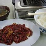 大丸 - 料理写真:カルビ牛+定食セット1200円