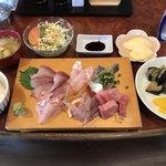 翠藍 - 料理写真:刺身定食=1200円