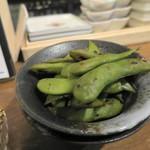 酒商 熊澤 - 枝豆の酒蒸し