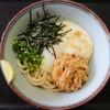上田うどん店 - 料理写真:山玉なめたけぶっかけうどん♪ネバネバ大好き(*´艸`*)