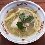 94842109 - 「焙煎うるめ太刀魚煮干し麺」850円(大つけ麺博2018)